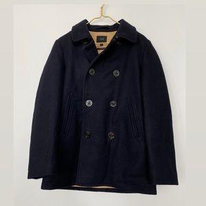 J. Crew Navy Blue Wool Peacoat/Wintercoat